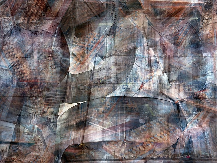 Shai Kremer, W.T.C Concrete Abstract#3 2012, Archival Pigment Print